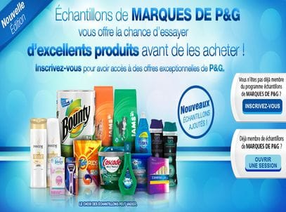echantillon procter and gamble